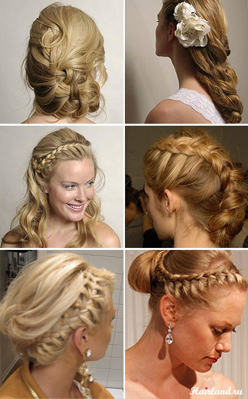 Свадебные прически с косами и